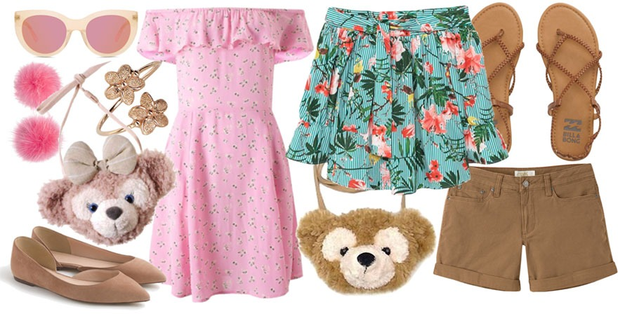 Duffy and ShellieMay's Aulani Resort fashion looks.