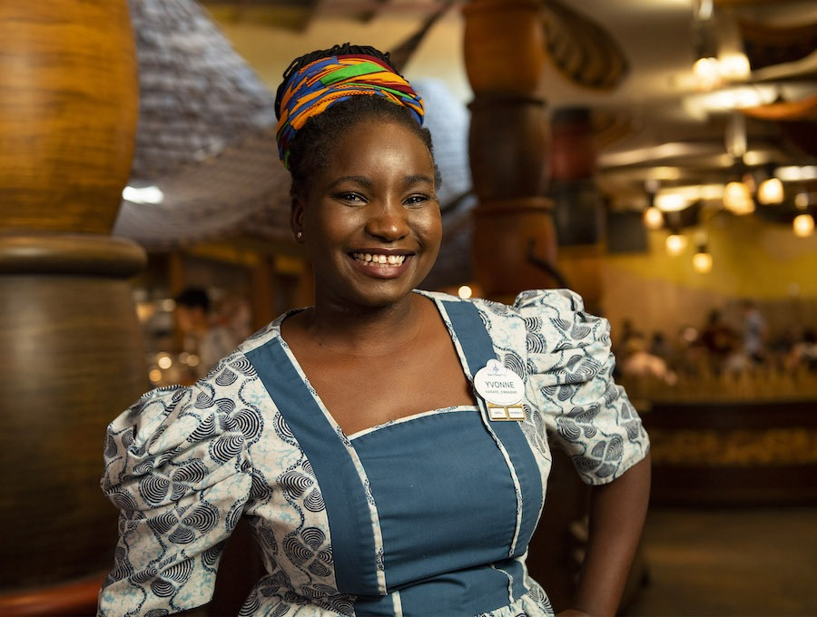 Greeter Yvonne Bahlangene from Boma – Flavors of Africa at Disney's Animal Kingdom Lodge