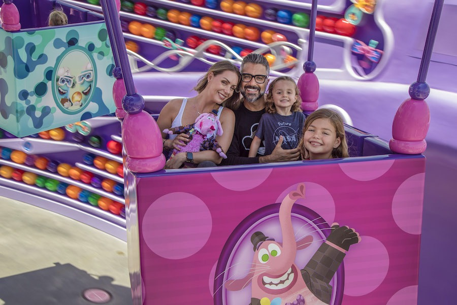 Actor Jaime Camil and his family enjoys a spin on Inside Out Emotional Whirlwind