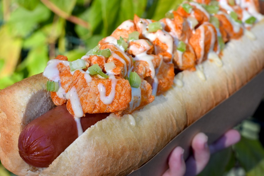 Buffalo Chicken Hot Diggity Dog from Casey's Corner at Magic Kingdom Park