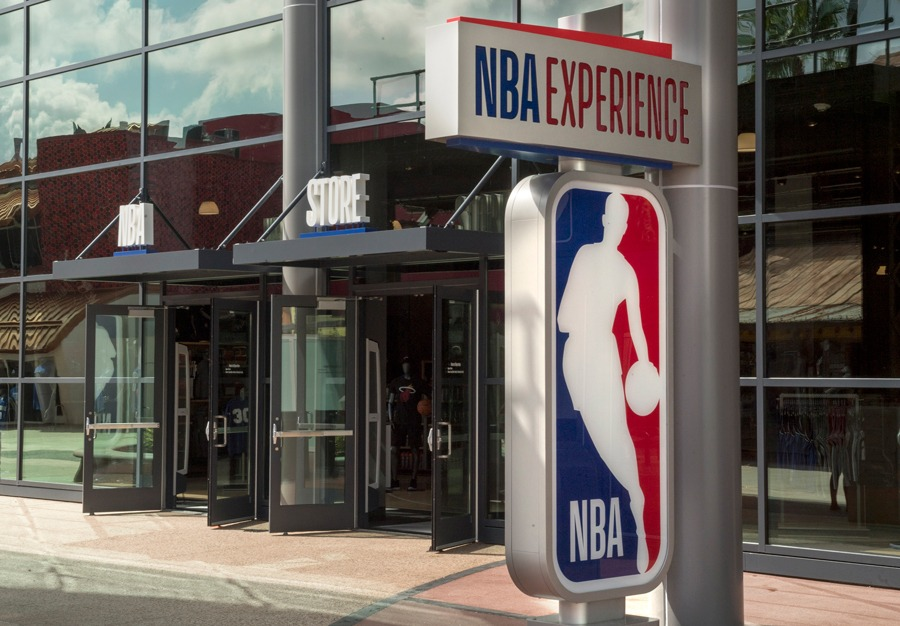 NBA Store inside NBA Experience at Disney Springs Exterior