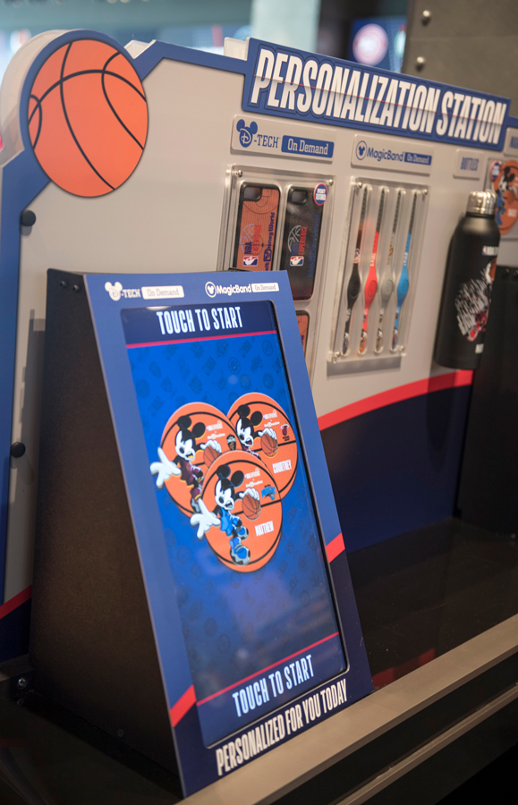 D Tech on Demand Station in the NBA Store inside NBA Experience at Disney Springs