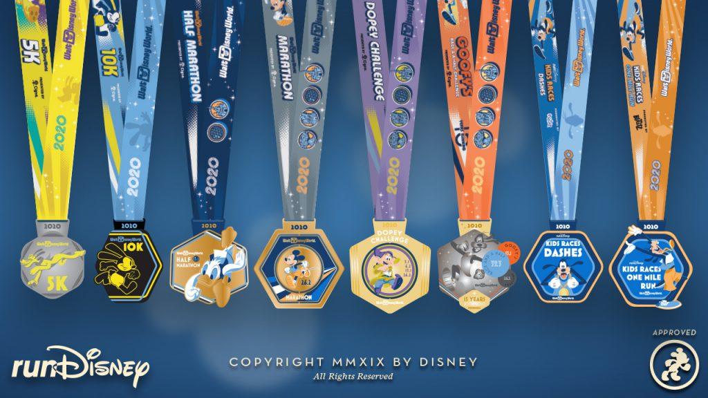 runDisney 2020 Walt Disney World Marathon Weekend Medal Designs