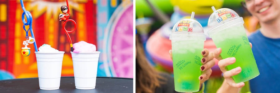 Frozen Beverages from Neighborhood Bakery and Mystic Portal Punch from Woody's Lunch Box at Disney's Hollywood Studios