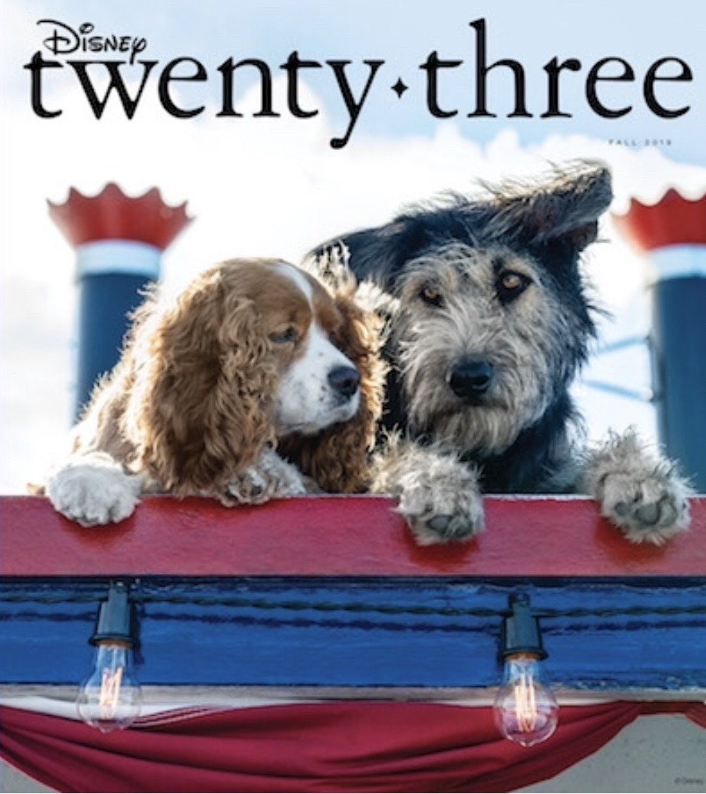 Disney's Live Action Lady and the Tramp on the Cover of Disney Twenty Three! 1