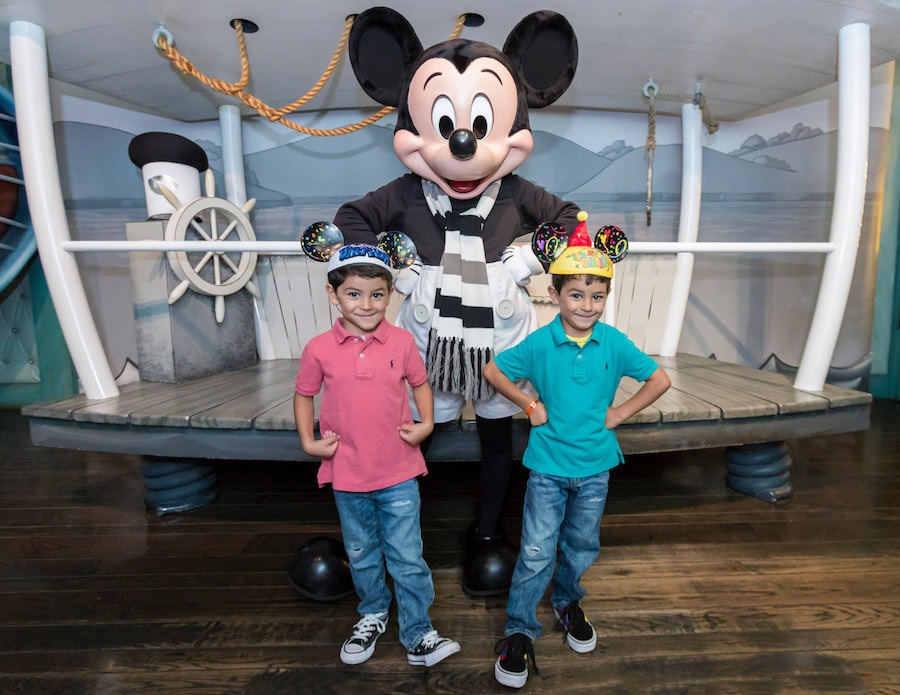 The Capetillo kids with Mickey Mouse