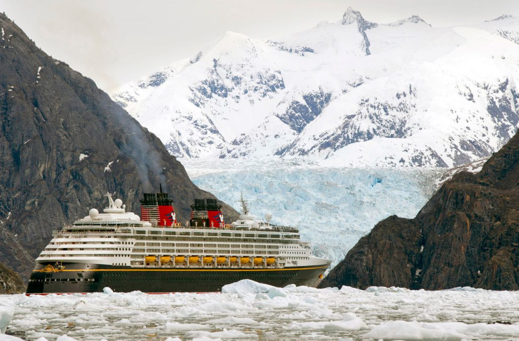 Disney Wonder sailing through Endicott Arm to Dawes Glacier