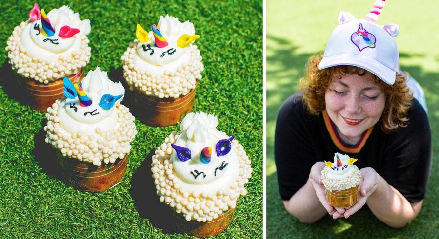 Rainbow Unicorn Cupcakes from Main Street Bakery at Magic Kingdom Park