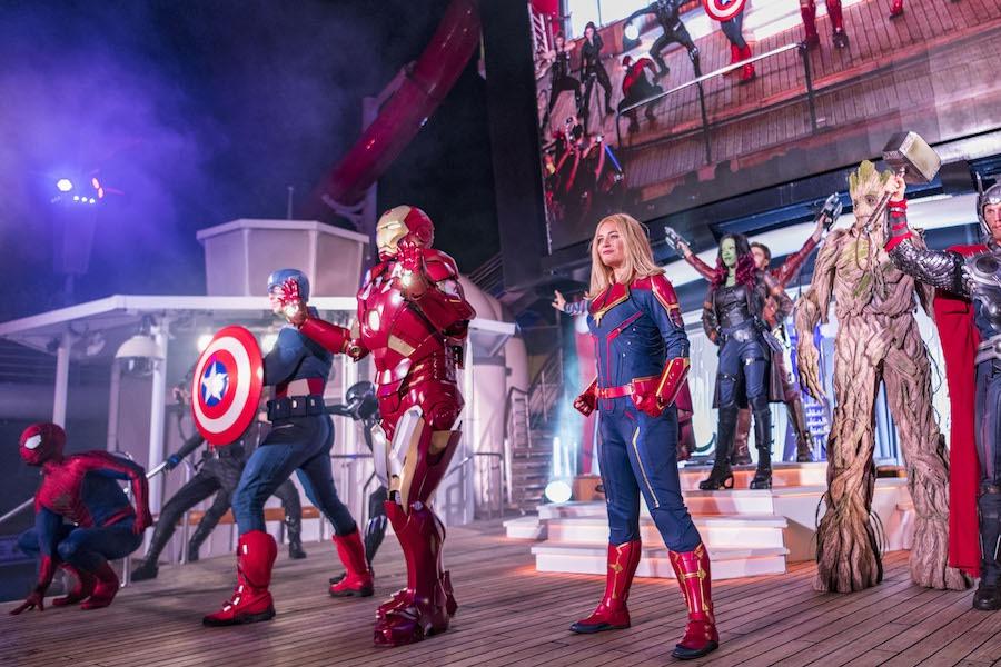 Marvel super heros on the Disney Magic