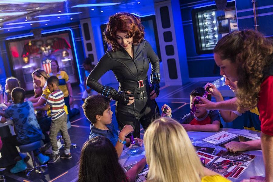 Black Widow on the Disney Magic