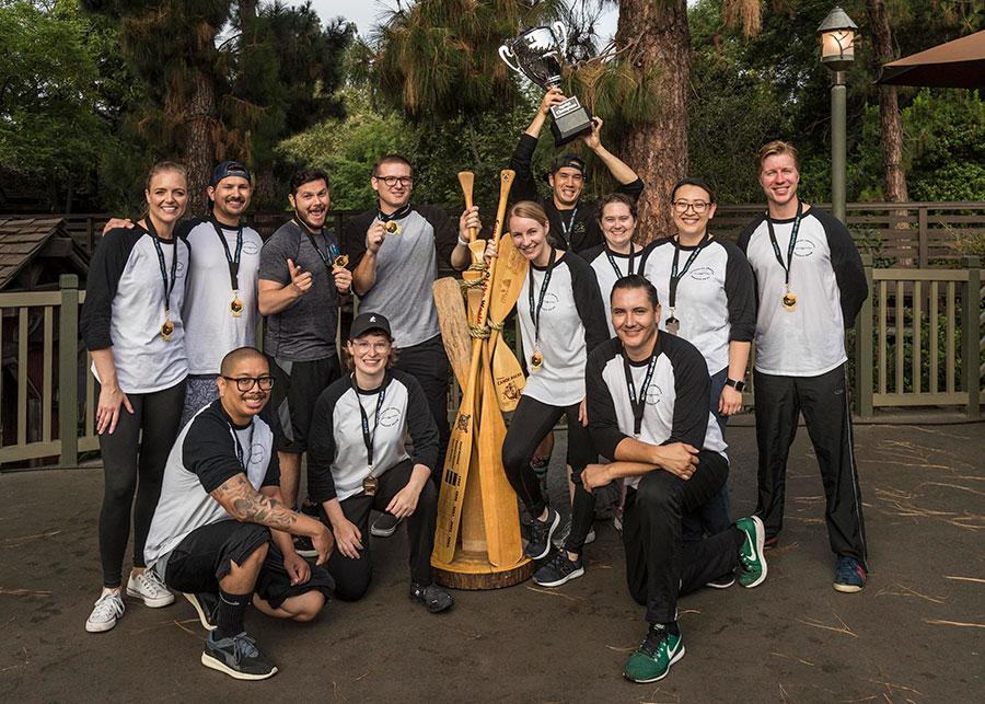 Disneyland Resort Cast Members Canoe Tradition Photo