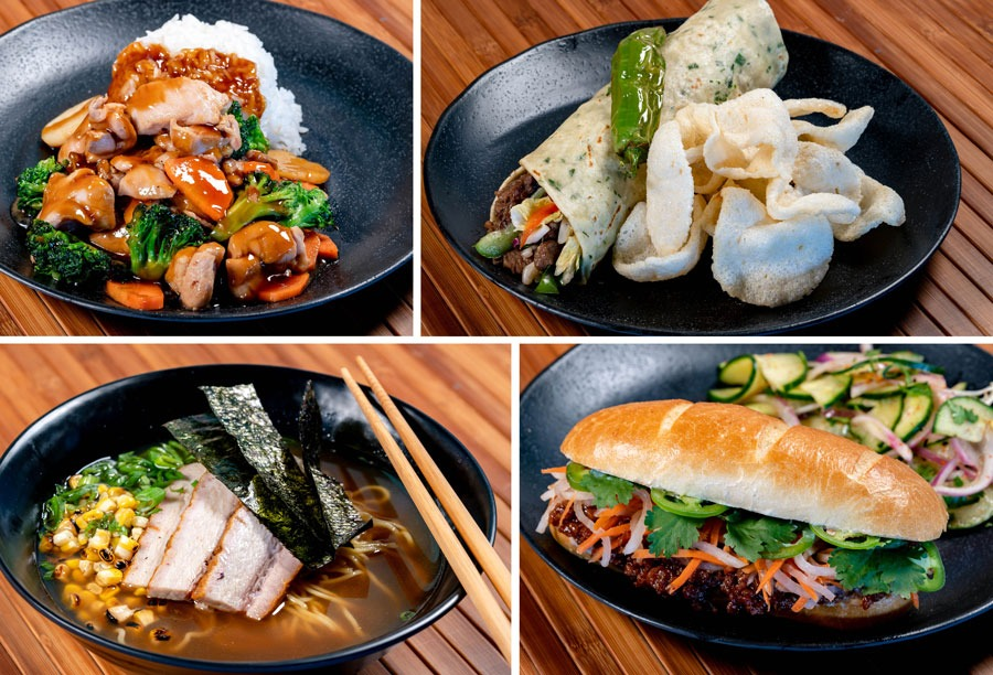 Entrées from Lucky Fortune Cookery at Disney California Adventure Park