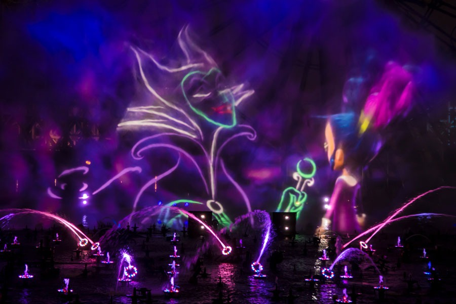 """""""Villainous!"""" a new """"World of Color"""" nighttime spectacular during Oogie Boogie Bash – A Disney Halloween Party at Disney California Adventure park"""