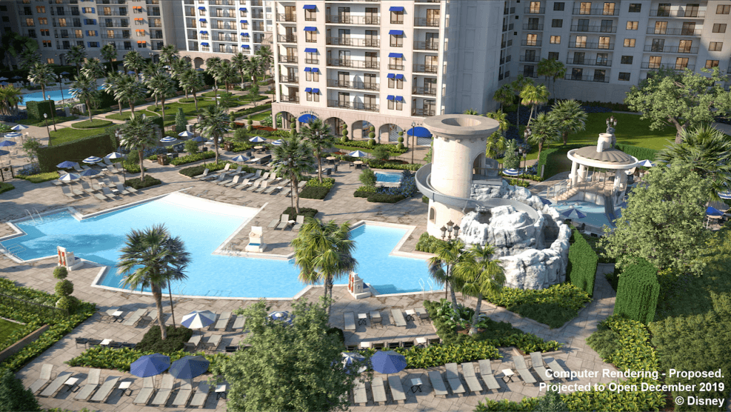 Rendering of the pool at Disney's Riviera Resort