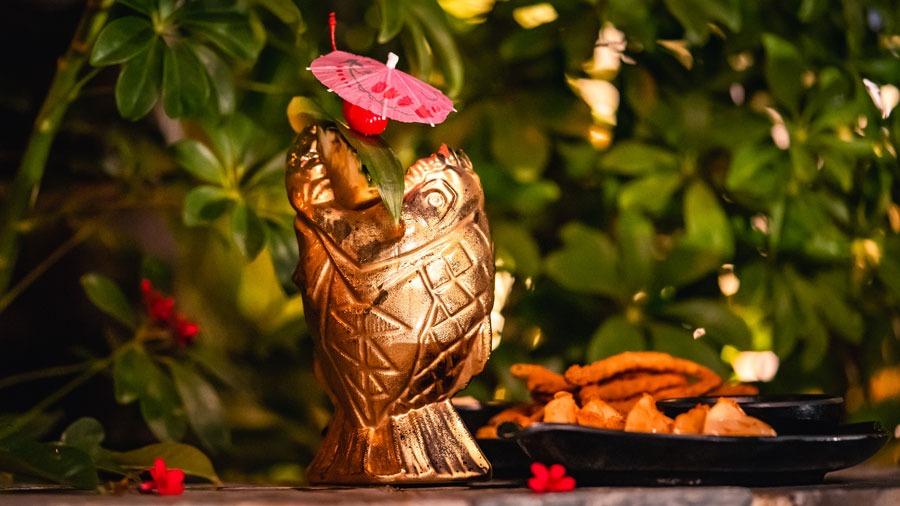 Limited Release Golden Piranha Tiki Mug from the Disneyland Hotel