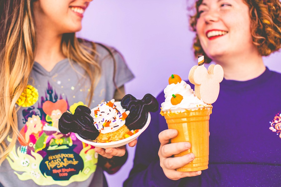 Chocolate Mickey Waffle Sundae and Pumpkin Spice Milkshake from Mickey's Not-So-Scary Halloween Party at Magic Kingdom Park