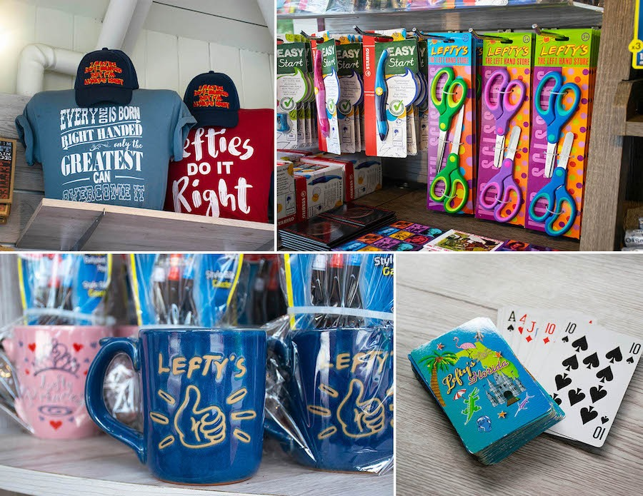 Merchandise from Lefty's—The Left Hand Store at Disney Springs