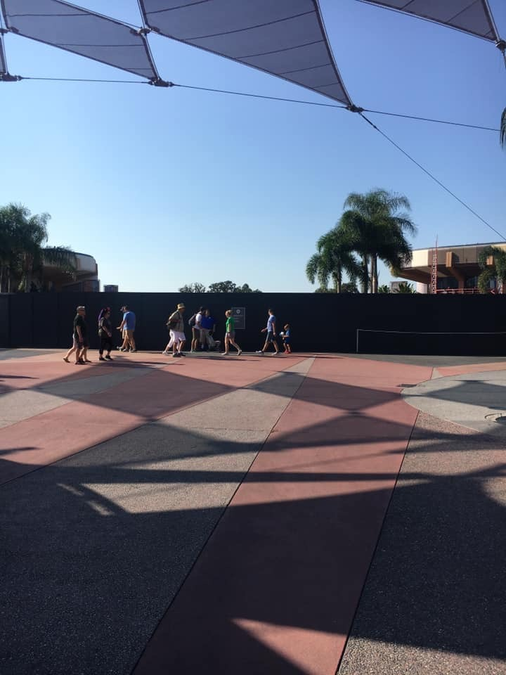 Fountain of Nations Closed off and Drained at Epcot. More Walls Go Up! 3