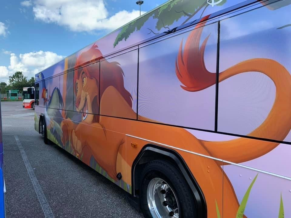 New Character Themes on Some WDW Buses! 3