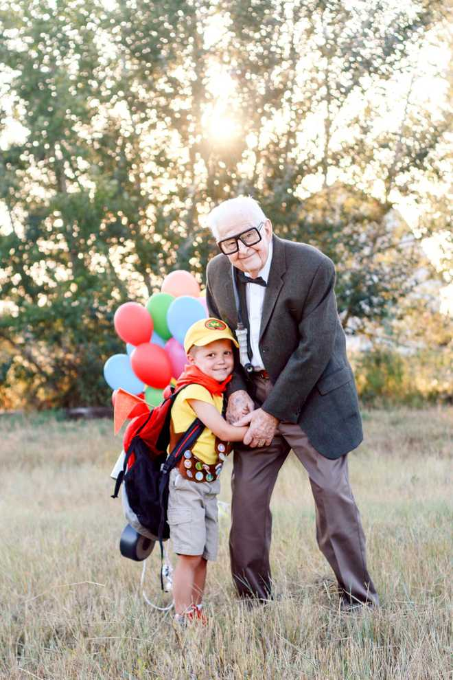 5-year-old boy's 'Up'-themed photoshoot with great-grandparents goes viral! 2