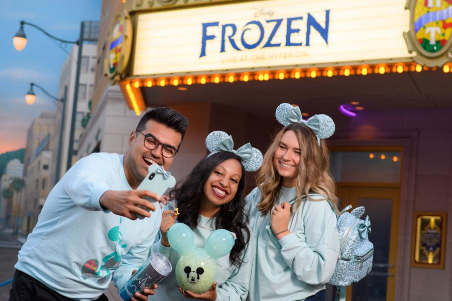 Arendelle Aqua Mickey Balloon Premium Popcorn Bucket at Disneyland Resort