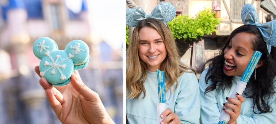 Arendelle Aqua Macaron and Churro at Disneyland Park