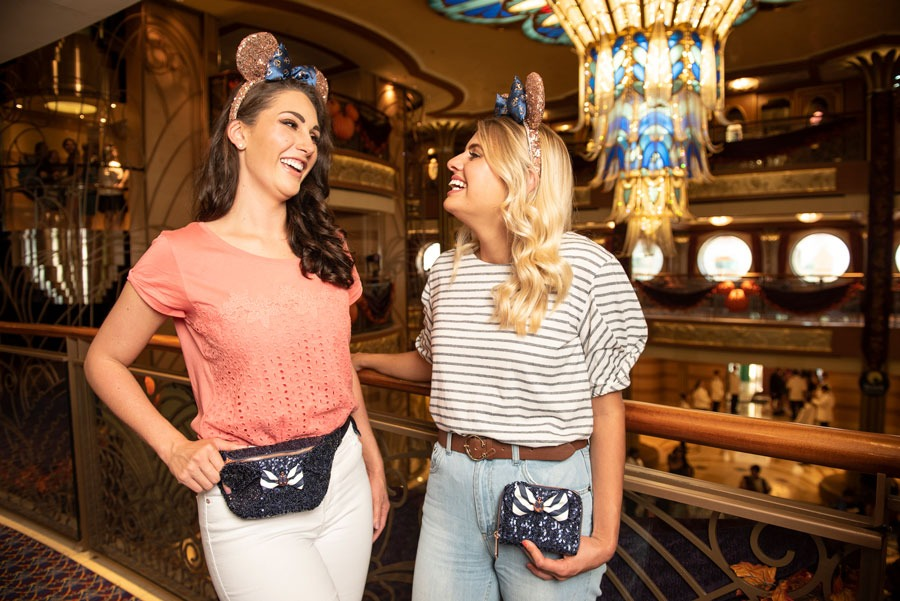 Disney Cruise Line Nautical Navy Collection - belt bag, wallet and Minnie ear headbands
