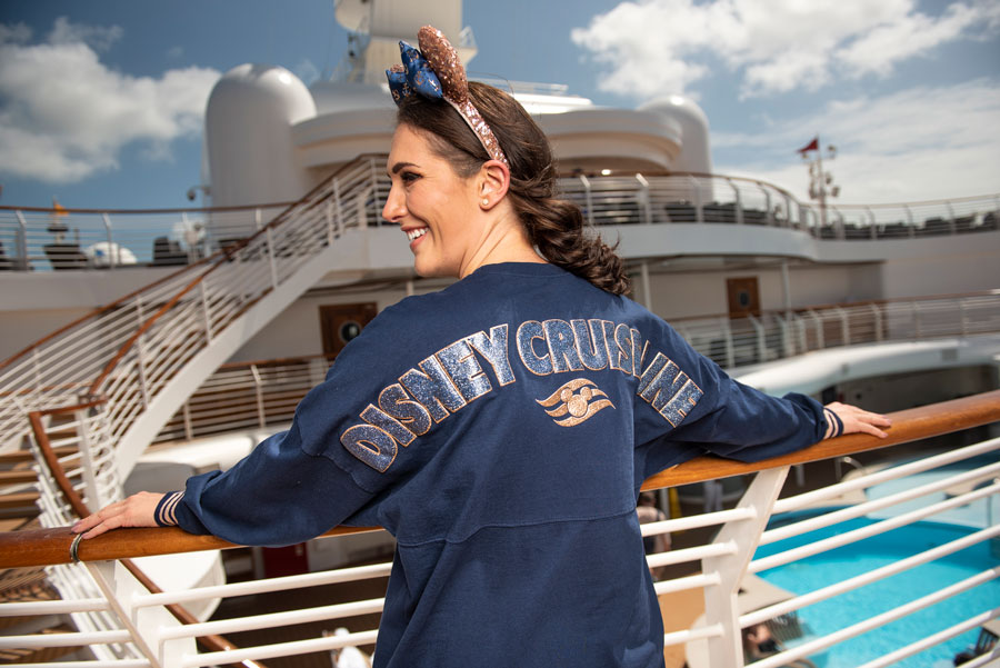 Disney Cruise Line Nautical Navy Collection Spirit Jersey and Minnie ear headband