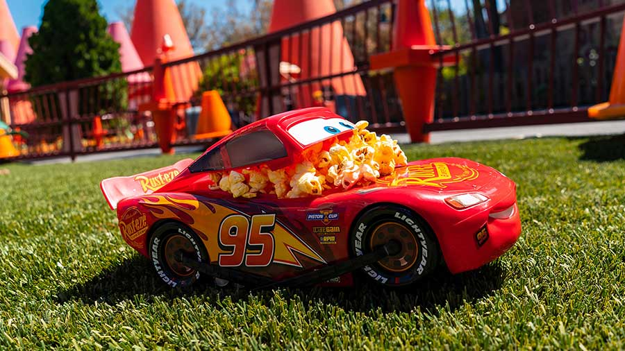 Lightning McQueen's very own popcorn bucket