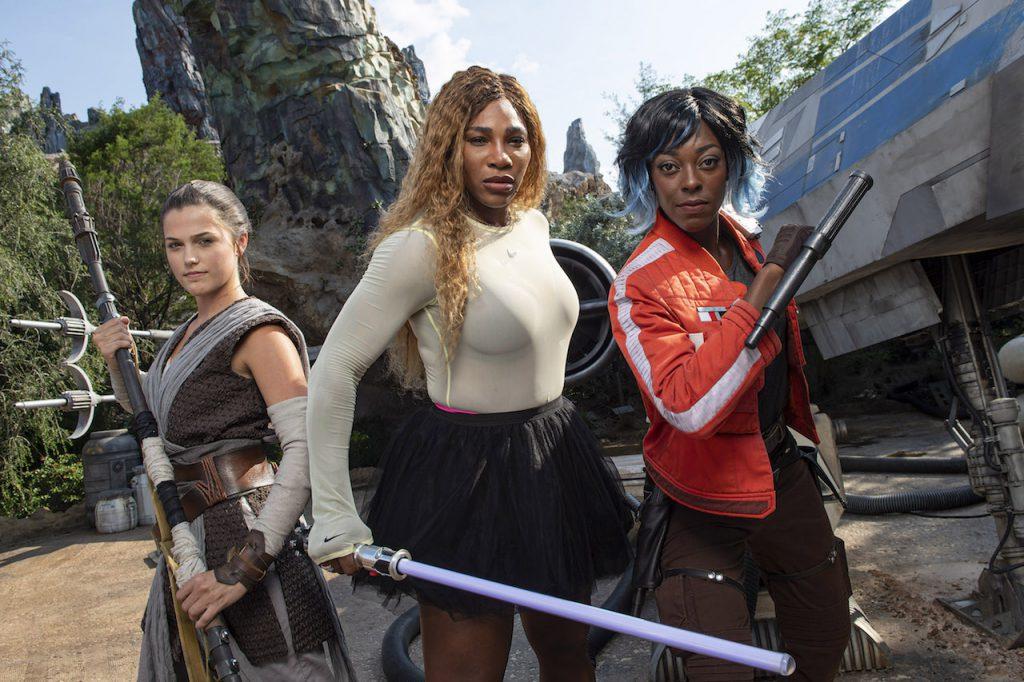 Serena Williams Visits Star Wars: Galaxy's Edge at Walt Disney World Resort