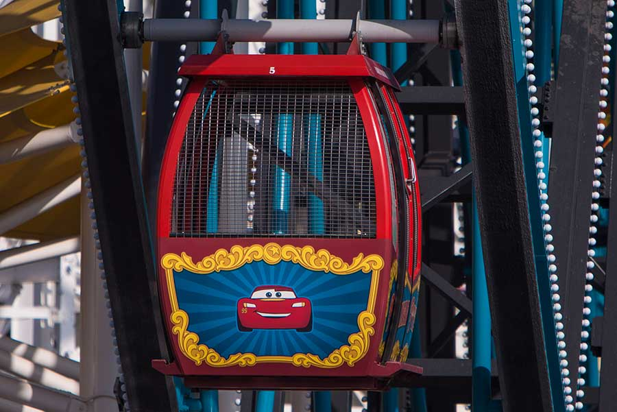 Lightning McQueen's gondola on Pixar Pal-A-Round