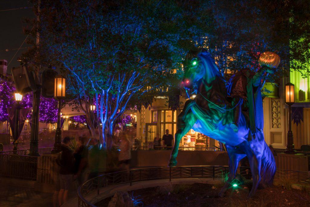 Headless Horseman statue at Disney California Adventure Park