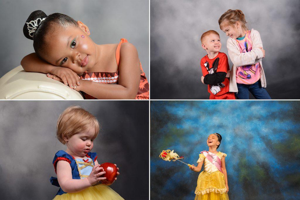 Collage of Disney PhotoPass Studio photos