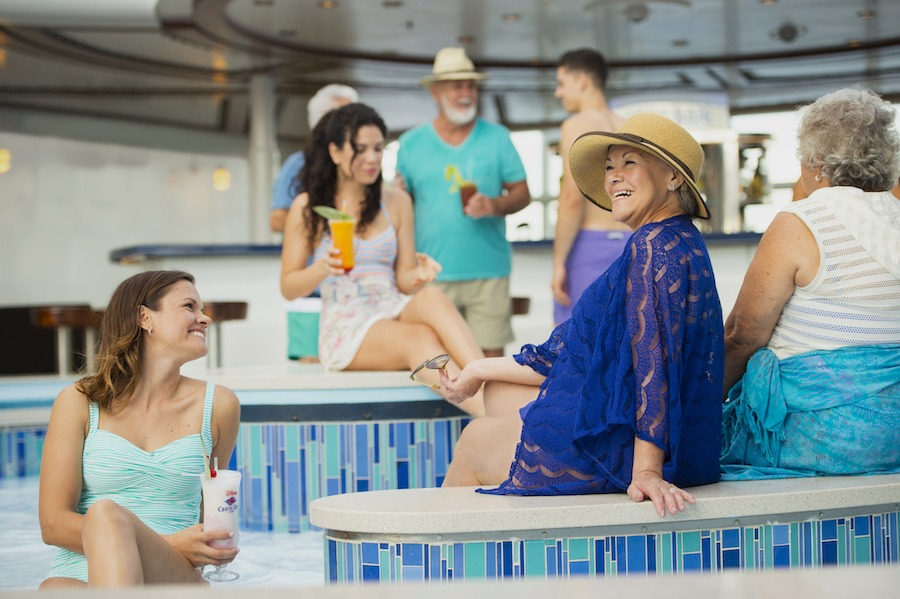 Adults in the Quiet Cove Pool on a Disney Cruise