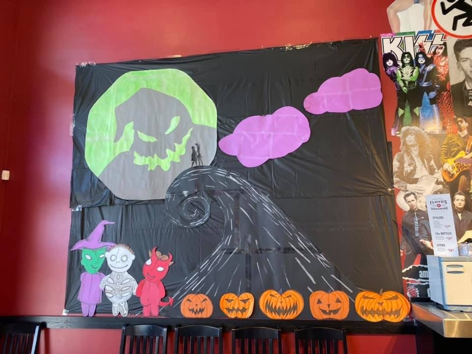 This is Halloween... at the Salon! Amazing Nightmare Before Christmas Decor! 4