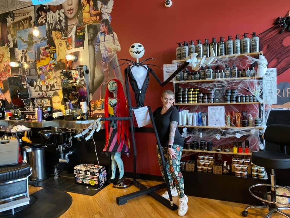This is Halloween... at the Salon! Amazing Nightmare Before Christmas Decor! 3