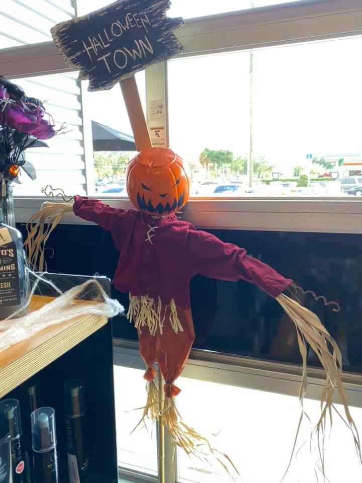 This is Halloween... at the Salon! Amazing Nightmare Before Christmas Decor! 11