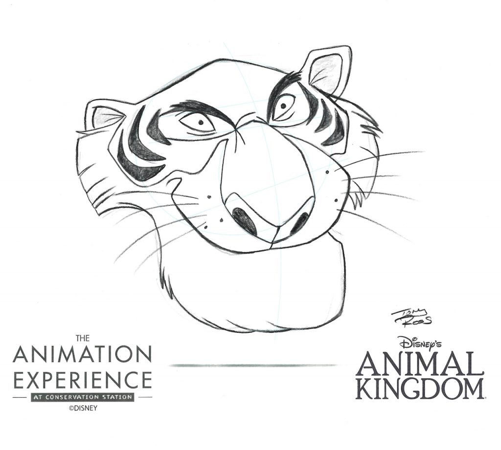 Drawing of ShereKhan from The Animation Experience at Conservation Station