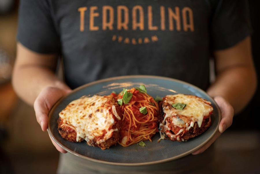 Pasta dish from Terralina Crafted Italian at Disney Springs