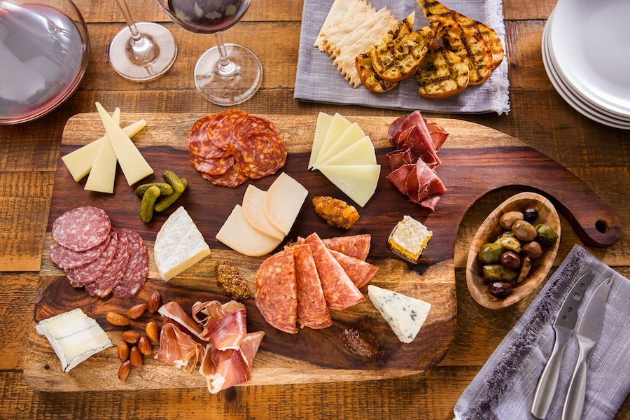 Charcuterie and cheese boards from Wine Bar George—A Restaurant & Bar at Disney Springs