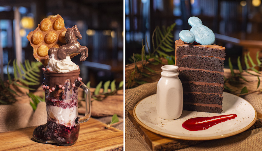 Desserts from Whispering Canyon Cafe at Disney's Wilderness Lodge