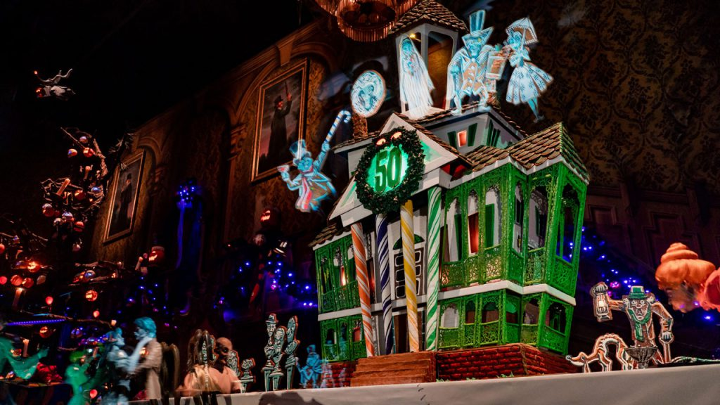 2019 Haunted Mansion Holiday 50th Anniversary Gingerbread House at Disneyland Park