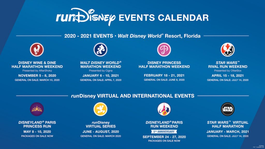 runDisney events calendar