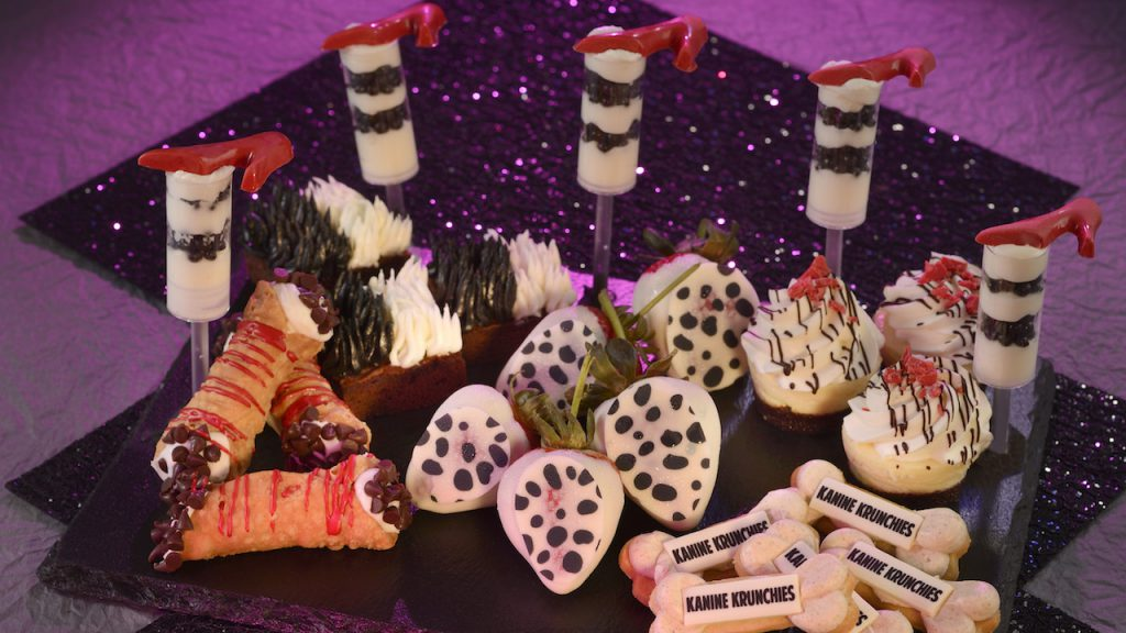 Desserts from Cruella's Halloween Hide-A-Way Party at Magic Kingdom Park