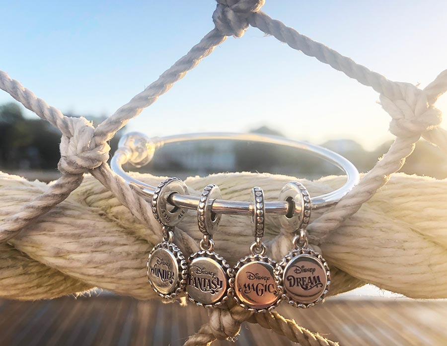 Pandora'a four new charms exclusively for Disney Cruise Line guests.
