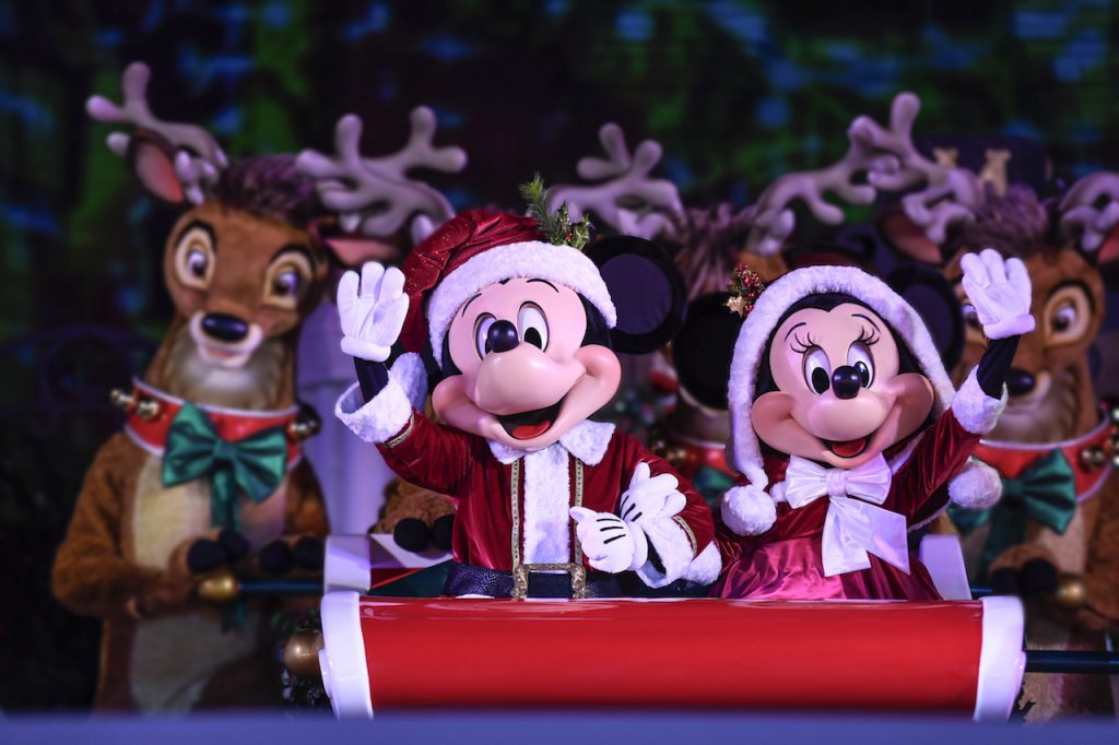Mickey and Minnier Mouse dressed up for the holidays