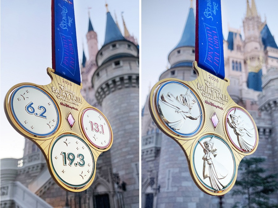 2020 Disney Fairy Tale Challenge medals