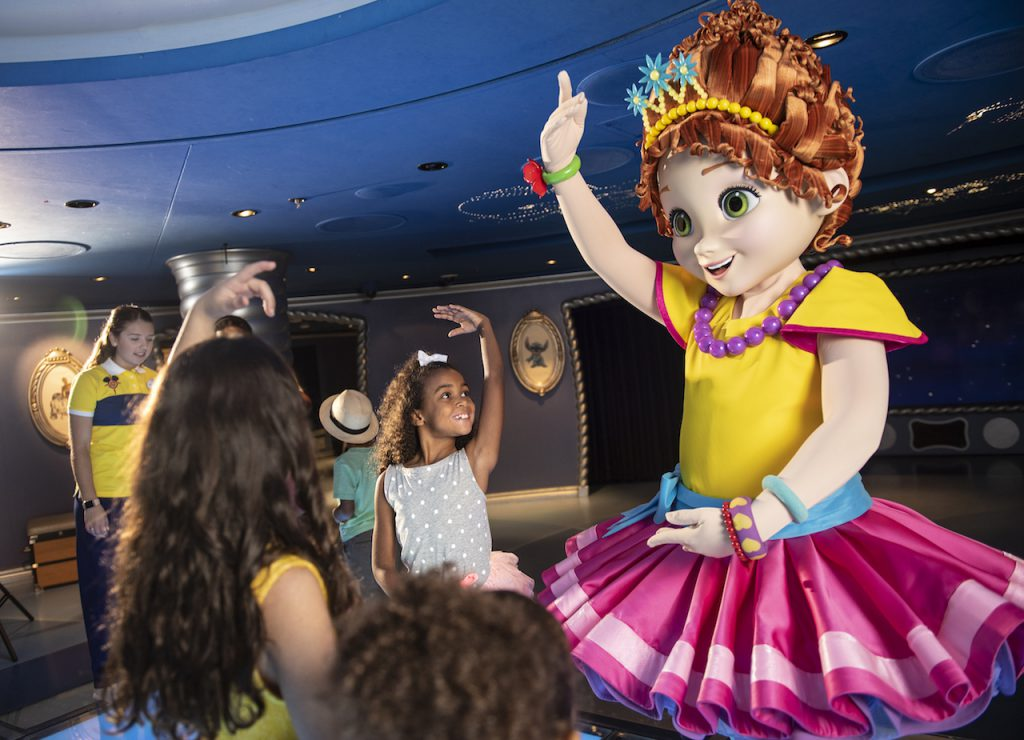 Fancy Nancy with guests on Disney Cruise Line