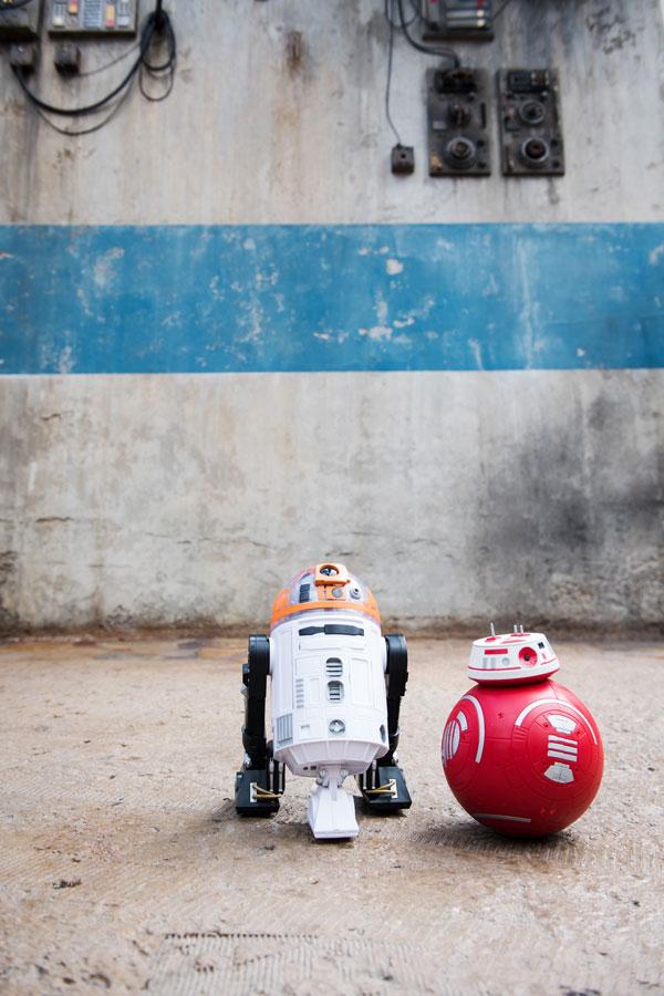 Custom-built droids from Droid Depot in Star Wars: Galaxy's Edge