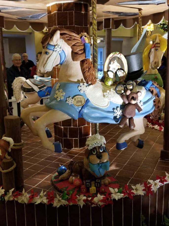 The Gingerbread Christmas Display at Disney's Beach Club Resort! 7